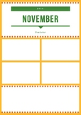 November Newsletter Template Yellow and Green