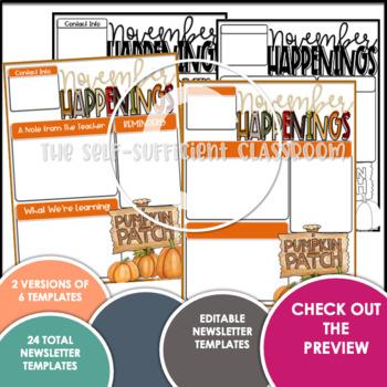 November Newsletters (Customizable)