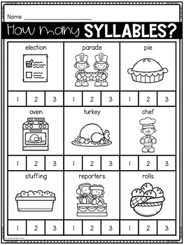 November No Prep Activities (2nd Grade)