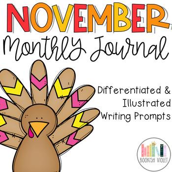 November No Prep Journal Prompts