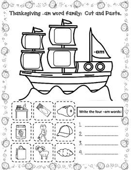 November No Prep English Literacy Fun:  First Grade