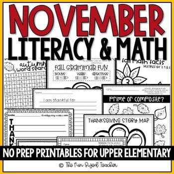 November No Prep Printable Pack
