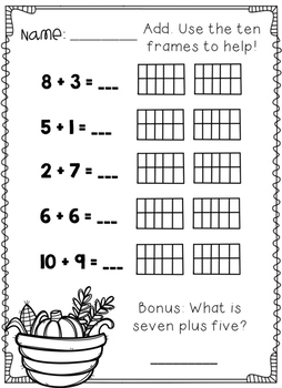 November No Prep Printables