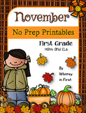November NO PREP Printables (First Grade)
