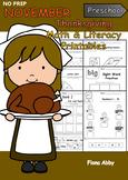 November No Prep Printables for Preschool
