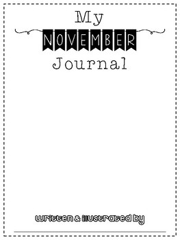 November No Prep Writing Journal for Elementary Writers