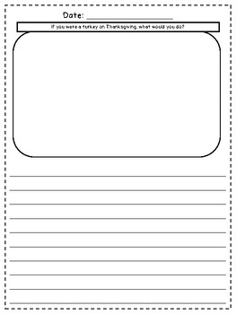 November Bell Ringer Draw & Write Daily Journal