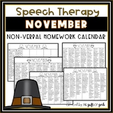 November Non-Verbal Homework Calendar