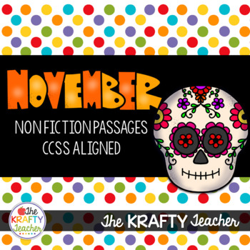 November NonFiction Reading Comprehension Passages for 2nd & 3rd