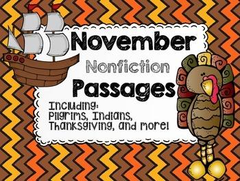 November Nonfiction Reading Passages