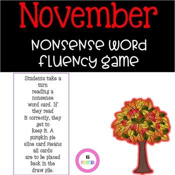 November Nonsense Word Fluency Game