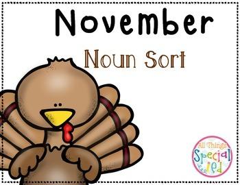 November Noun Sort