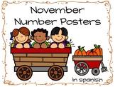 November Number Poster in spanish