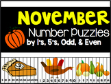 November Number Puzzles {45 Puzzles Included}