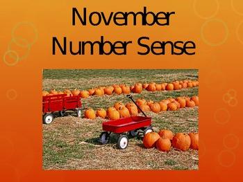 November Number Sense