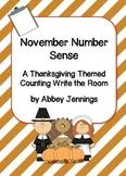 November Number Sense:  A Thanksgiving Themed Counting Wri