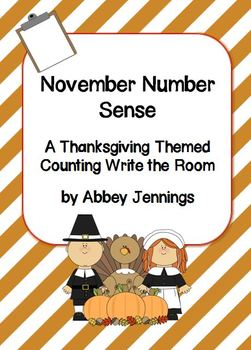 November Number Sense:  A Thanksgiving Themed Counting Wri