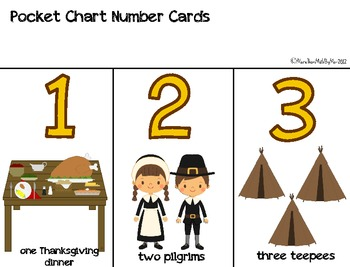 November Numbers: Thanksgiving Math Games-B&W versions included