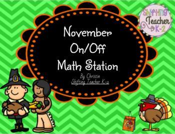 November On/Off Addition Game