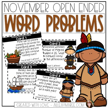 Open-Ended Word Problems {November}