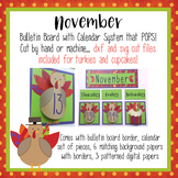 November POP out calendar and bulletin board
