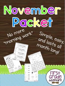 November Packet {Morning Work for ALL of November}
