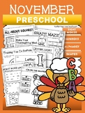 November Packet- PRESCHOOL (NO PREP)