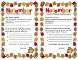 November Parent Conference Reminder