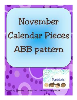 November Pattern Calendar Numbers