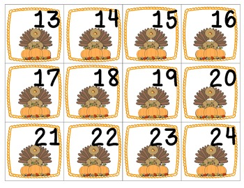 November Patterning Calendar Cards & Header (2 Sets!)