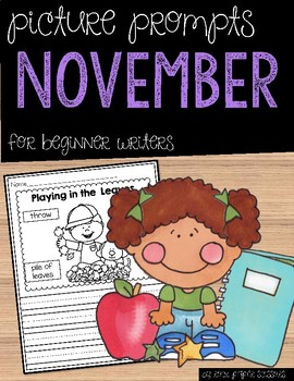 November Picture Writing Prompts for Beginning Writers