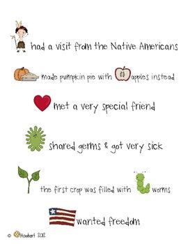 November Pilgrim & Native American Writing for Explanatory & Narrative Stories