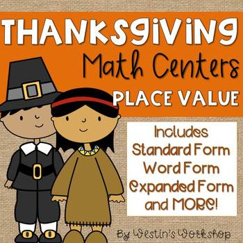 Thanksgiving Math Centers - Place Value