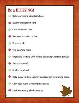 November Planning Pack for Children