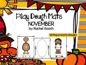 November Play Dough Mats and Writing