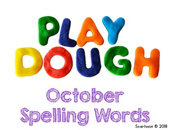 November Play Dough Spelling Words