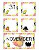 November Pocket Calendar Cards