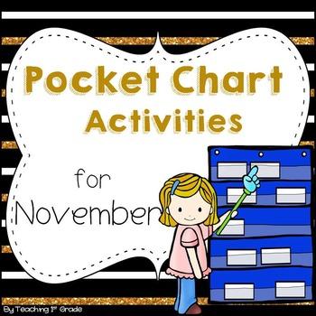 November Pocket Chart Activities