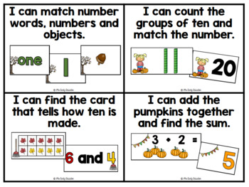 November Pocket Chart Centers