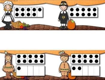 November Pocket Charts --- Four Math and Literacy Pocket Charts for November