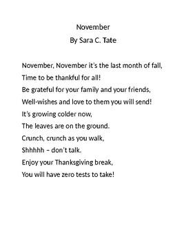 November Poem