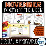 November Poem and Book Set
