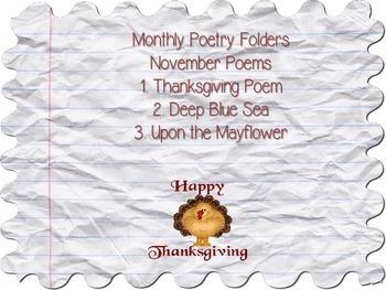November Poems (Poetry Folders)