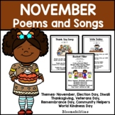 November Poems and Songs for Poetry Unit (Printable)