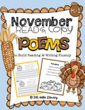 November Poems for Building Reading Fluency & Writing Stamina (K-1)