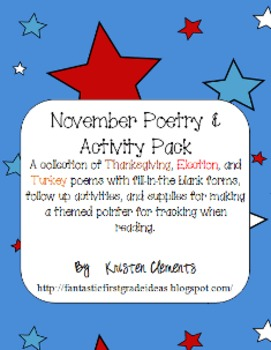 November Poetry Center & Activity Pack
