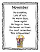 November Poetry Kindergarten & First Grade