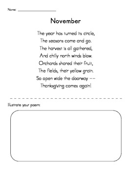 November Poetry Pack - Simple and Direct