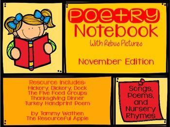 November Poetry with Rebus Pictures