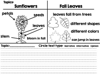 November Power Writing (Differentiated)